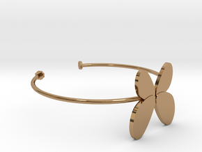 Butterfly Bangle - Full in Polished Brass