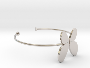 Butterfly Bangle - Full in Rhodium Plated Brass