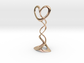 SpiralHeart.small in 14k Rose Gold Plated Brass