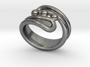 Threebubblesring 21 - Italian Size 21 in Fine Detail Polished Silver