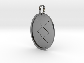 Ing Rune (Anglo Saxon) in Polished Silver