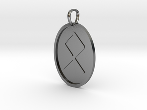 Oedel Rune (Anglo Saxon) in Polished Silver