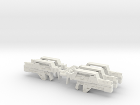 28mm M41a Pulse Rifle (x5) in White Natural Versatile Plastic