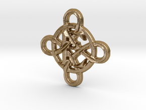 Celtic Initial E in Polished Gold Steel