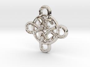 Celtic Initial E in Platinum