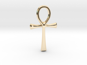 little ankh in 14k Gold Plated Brass
