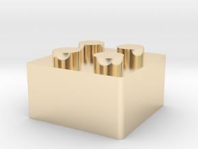 LegoKeycap in 14k Gold Plated Brass