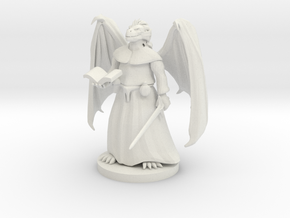 Dragonborn Priest in White Natural Versatile Plastic