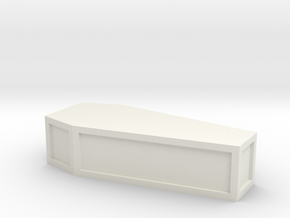 flat-top_coffin in White Natural Versatile Plastic