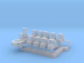 1:400 Scale Aircraft Carrier Forklift Set #1 (Late in Smoothest Fine Detail Plastic