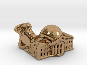 Clown Shoe Squish - Precious Metals in Polished Brass