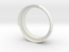 Dosing Funnel for Breville Infuser's Portafilter in White Natural Versatile Plastic