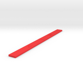Customizable Range Ruler - Space 1 / 2  in Red Processed Versatile Plastic