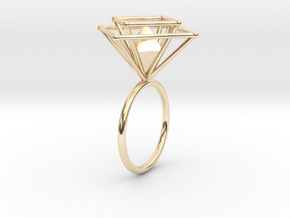 Crazy diamond size 52 in 14K Yellow Gold