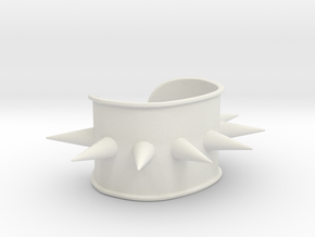 """Spiked Cuff - Bent (for wrists 2.25""""Wx1.5""""H) in White Natural Versatile Plastic"""