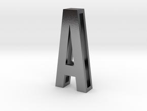 Choker Slide Letters (4cm) - Letter A in Polished Silver