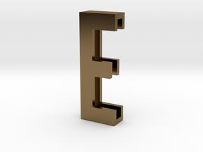 Choker Slide Letters (4cm) - Letter E in Polished Bronze
