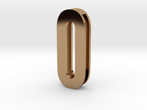 Choker Slide Letters (4cm) - Letter O or Number 0 in Polished Brass