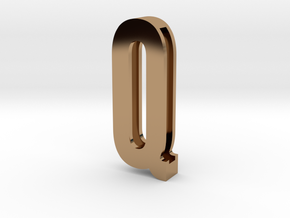 Choker Slide Letters (4cm) - Letter Q in Polished Brass