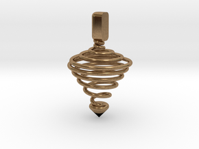 Functional Spinning top  in Natural Brass