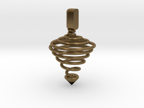 Functional Spinning top  in Natural Bronze