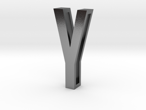 Choker Slide Letters (4cm) - Letter Y in Polished Silver