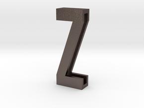 Choker Slide Letters (4cm) - Letter Z in Polished Bronzed Silver Steel