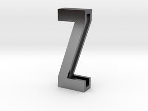 Choker Slide Letters (4cm) - Letter Z in Polished Silver