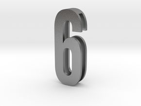 Choker Slide Letters (4cm) - Number 6 or Number 9 in Natural Silver