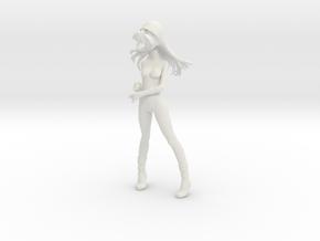 1/6 Race Queen Asuka Umbrella Pose Nude in White Natural Versatile Plastic