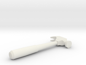 Mini Hammer in White Natural Versatile Plastic