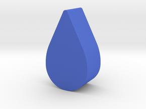 Droplet Game Piece in Blue Processed Versatile Plastic