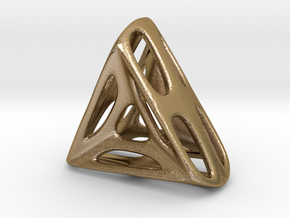 Nest ::: Triangle Pendant ::: v.01 in Polished Gold Steel