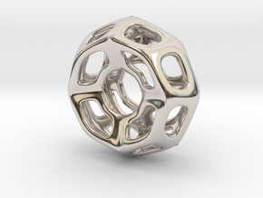 Nest ::: Circle Pendant ::: v.01 in Rhodium Plated Brass