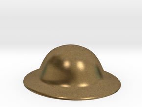 Army Brodie Helmet WW1 WW2 1:6 scale in Natural Bronze
