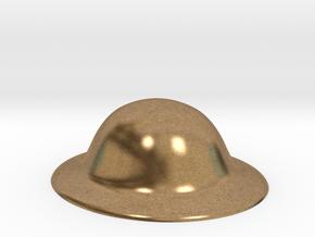 Army Brodie Helmet WW1 WW2 1:6 scale in Natural Brass
