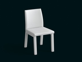 1:10 Scale Model - Chair 05 in White Natural Versatile Plastic