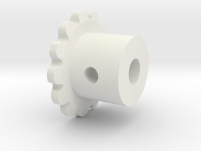 mip-sp21-sprocket-4mm in White Strong & Flexible