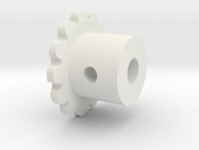 mip-sp21-sprocket-4mm in White Natural Versatile Plastic