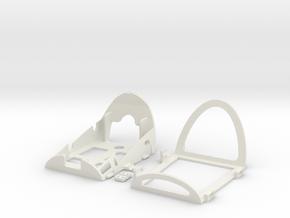 Bixler UAV_main frame in White Natural Versatile Plastic