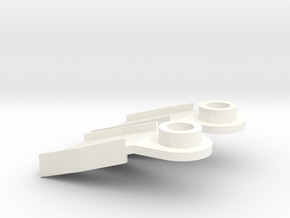 Minifig Splitfins with angled blade in White Processed Versatile Plastic