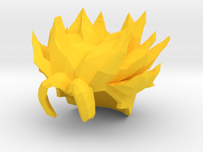 Custom Trunks Short SSj Inspired Hair for Lego in Yellow Processed Versatile Plastic