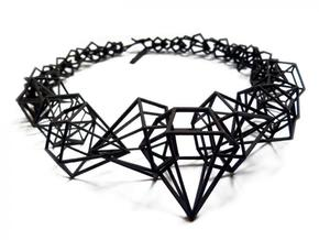 Stereodiamond Necklace in Black Natural Versatile Plastic