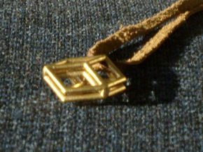 Bilinski Cubes Pendant I in Natural Bronze