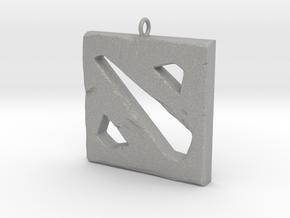 DOTA 2 Polygonal Logo Pendant Keychain Necklace in Aluminum