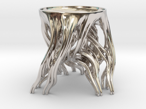 Tripod Julia bowl with smooth interior (thin) in Platinum: Medium
