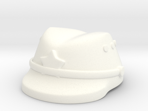 Japanese Cap in White Processed Versatile Plastic