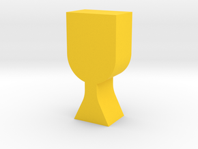 Goblet Game Piece in Yellow Processed Versatile Plastic
