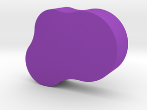 Potato Game Piece in Purple Processed Versatile Plastic
