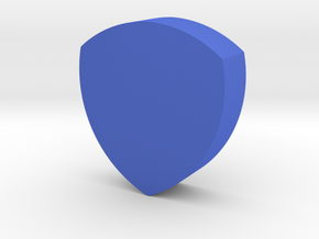 Shield Game Piece in Blue Processed Versatile Plastic